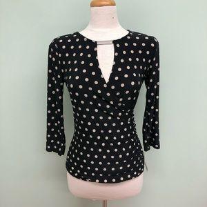 INC Polka Dot Long Sleeve Shirt (PM757)